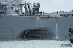 造价昂贵的军舰与商船相撞, 为何受伤的