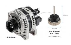 电装开始量产搭载新型高效二极管的交流