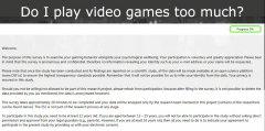 """""""游戏障碍""""心理测试 只是探索而非直接"""