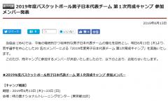 日本男篮公布20人名单 NCAA控卫领衔16岁小