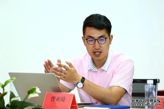 新疆农业大学马产业研究院曾亚琦博士作报告