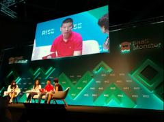 火花思维CEO罗剑亮相RISE科技盛会,AI数理
