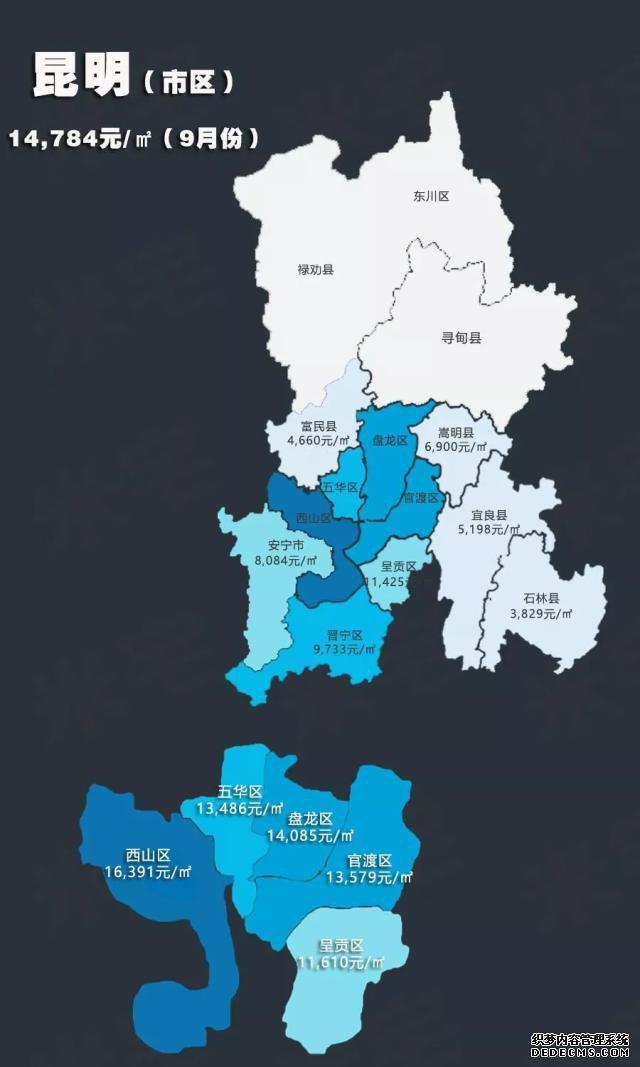 2019年9月热点城市房价地图!青岛均价21148元/㎡